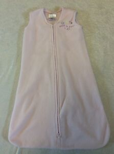 Halo Sleepsack Small Pink Baby Girl Fleece 0-6 Months 10-18 Lbs