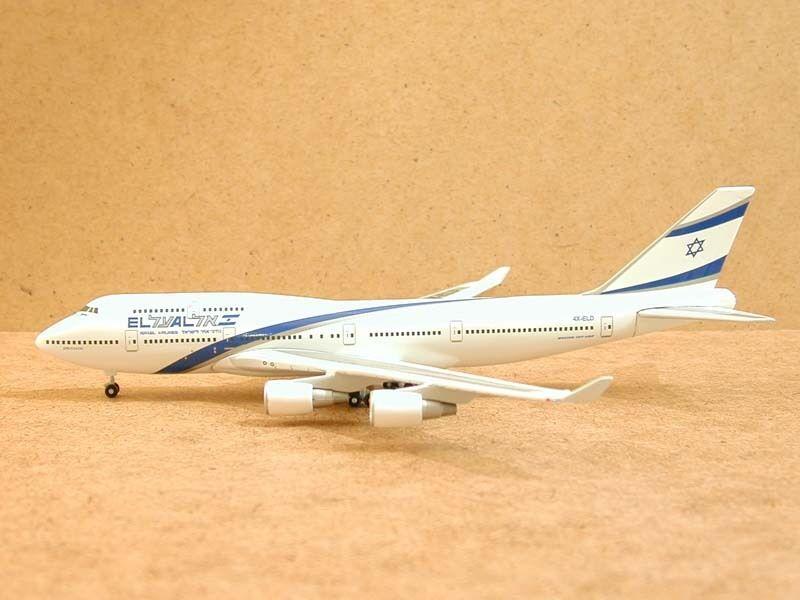 ELAL B-747-400, (4X-ELD), 1 400, Gemini Jets
