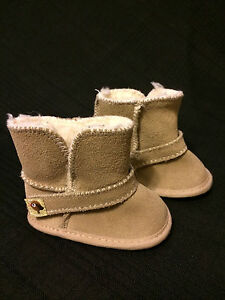 Tiny-Tillia-Beige-Suede-Boots-with-Ankle-Strap-Size-0-6M-NEW-without-box
