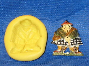 Golf Player Candy Silicone Mold Food Safe 605 Mould Wax