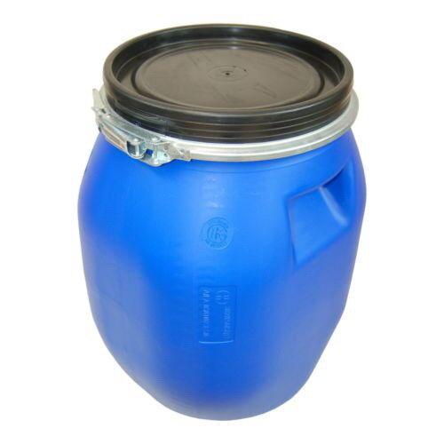Baril tonneau fût plastique Blau 30 L avec couvercle et bague de serrage (22094)