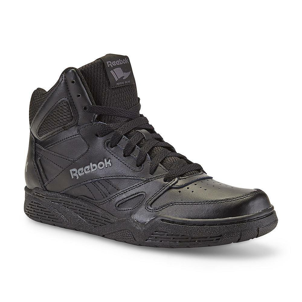 New Mens Reebok Royal BB4500 Extra Wide Black High-Top Leather Basketball shoes