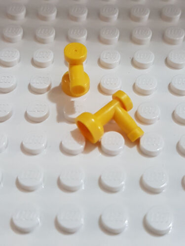 LEGO-X 2 yellow Taps 1 x 1 without Hole in End Part 4599b