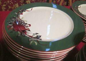 Lenox Winter Greetings Christmas Dinnerware Service for 12--- HTF ...
