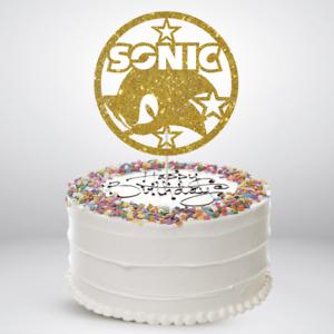 Strange Sonic Birthday Cake Toppers Glitter Die Cut Bling Sparkle Decoration Personalised Birthday Cards Xaembasilily Jamesorg