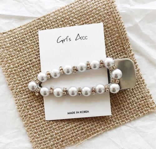 Fashion Women Pearl Acrylic Barrette Hair Clip  Hairpin Hair Accessories Gift