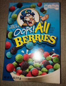 Exp August 16 2019 Cap N Crunch Oops All Berries 4 1oz Quaker Cereal Ebay I think it's part of the universe's running joke to make our videos have at least some sort of quirk. ebay