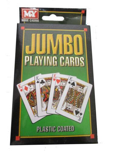 JUMBO EXTRA LARGE GIGANTE CARTE DA GIOCO BRIDGE POKER WHIST GIOCHI d/'azzardo gioco