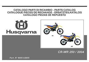 husqvarna motorcycle cr 250 wr 250 full service repair manual 2004