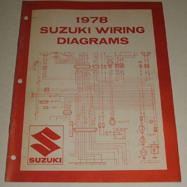 1978 Suzuki Wiring Diagram Manual Jr Rm Pe Ds Dr Ts Sp Gs 125 550 750 1000