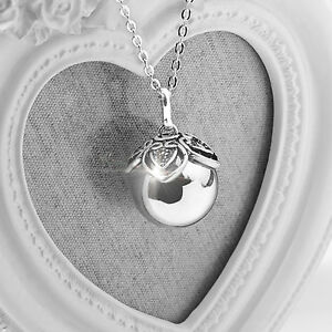 Lori harmony ball silver pregnancy necklace baby gift mum to be gift image is loading lori harmony ball silver pregnancy necklace baby gift aloadofball Choice Image