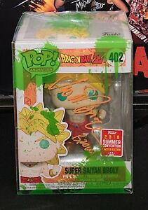 Funko POP! Dragon Ball Z Broly #402 Signed For Official voice Actor Vic Mignogna