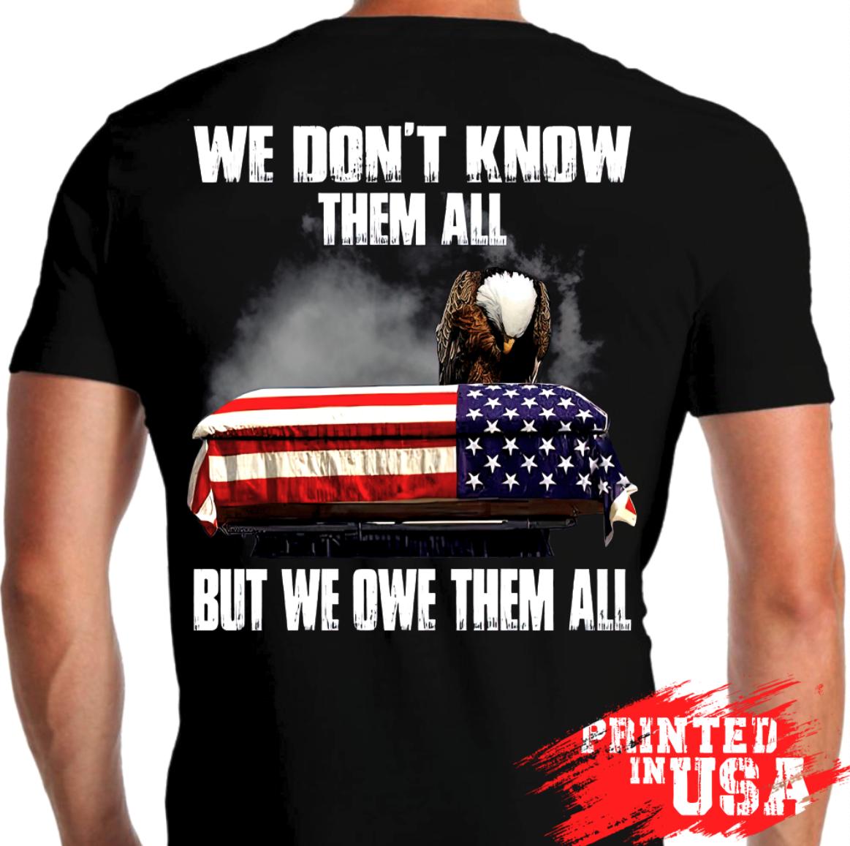 Veteran T-Shirt Backside Us Flag American Eagle Patriotic Gift Soldier Warrior Masswerks Store