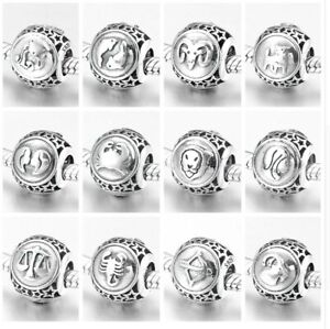 Virgo Zodiac Vintage Silver Enamel Travel Charm Jewellery & Watches Fine Charms & Charm Bracelets
