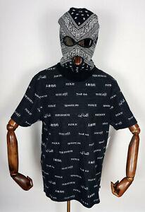 Huf Worldwide Skateboard T-Shirt Tee Shirt Translation Knit Top Black in XXL