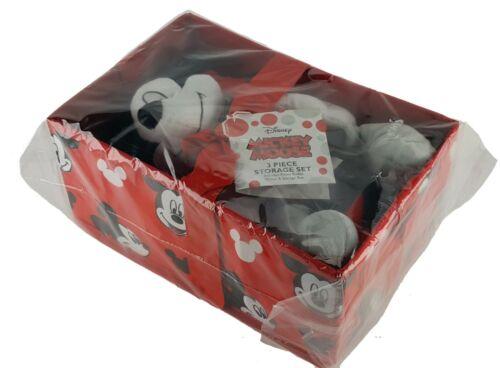 DISNEY MICKEY MOUSE SLUMBER PARTY STORAGE SET PILLOW BUDDY THROW BOX