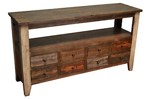 Rustic Solid Wood 55 Inches Wide Tv Stand Media Console
