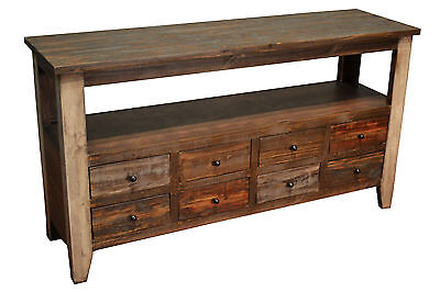 Wondrous Rustic Solid Wood 55 Inches Wide Tv Stand Media Console 8 Pabps2019 Chair Design Images Pabps2019Com