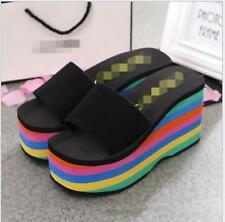 e3ec8b766b1 item 4 Womens Shoes Summer High Rainbow Wedge Heel Platform Beach Flip  Flops Slippers -Womens Shoes Summer High Rainbow Wedge Heel Platform Beach  Flip Flops ...