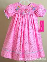 Claire & Charlie Anavini Cinderella Smocked Bishop Dress 12 18 24 M Princess