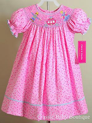 NWT Claire & Charlie Anavini Cinderella Smocked Bishop Dress 12 18 24 M Princess