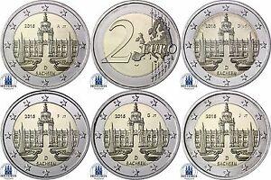 Deutschland-5-x-2-Euro-Dresdner-Zwinger-2016-Mzz-A-D-F-G-J-bankfrisch