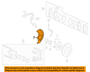 image is loading honda-oem-2005-accord-front-brake-backing-splash-