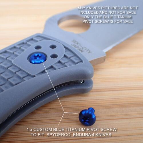 Spyderco Endura 4 Titanium Ti T8 BLUE Custom Pivot Screw NO KNIVES INCLUDED