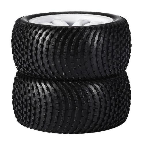 Durable 1 Pair Rubber Tyres for 1:10 ZDRacing HSP RC  Car Refit Part