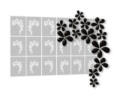 AEROGRAFO Stencil per NailArt autoadesivo, NailArt AEROGRAFO Stencils-Floral