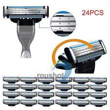 24Pcs Generic Replacement Blades Cartridges For Gillette Mach 3 Shaving Razor