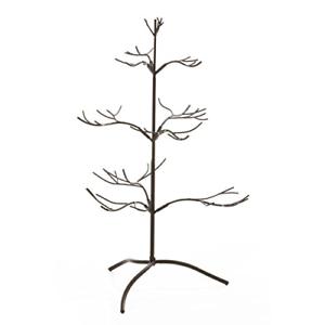 Metal Ornament Display Tree 25 Inches Tall  Mahogany Finish