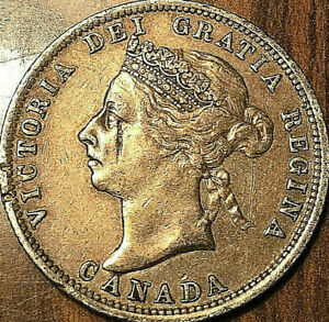 1901-CANADA-SILVER-25-CENTS-VICTORIA-QUARTER-Excellent-example