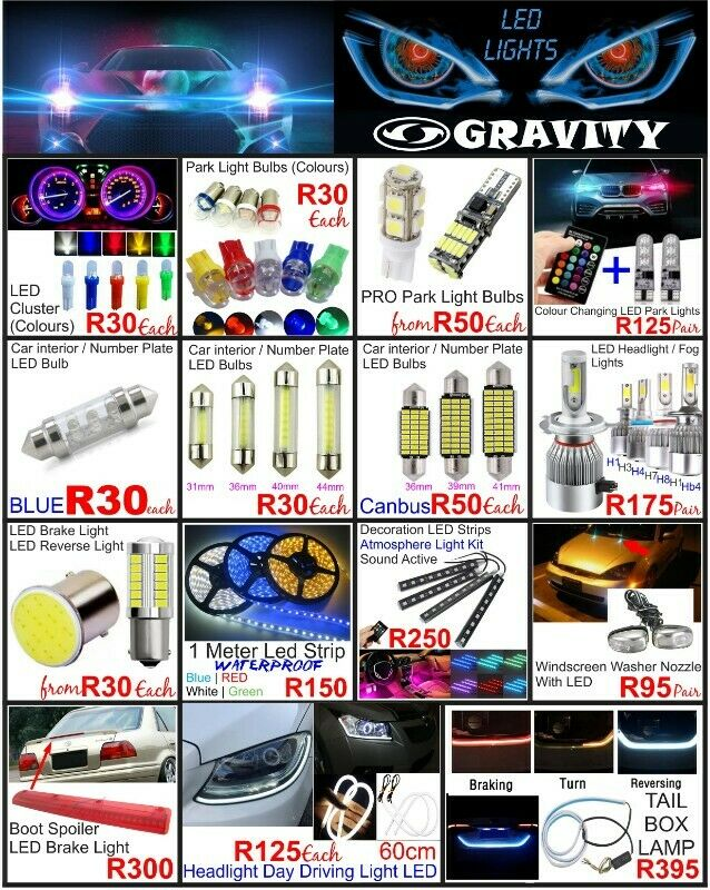 WIDE VARIETY OF CAR LED BULBS / LIGHTING ACCESSORIES