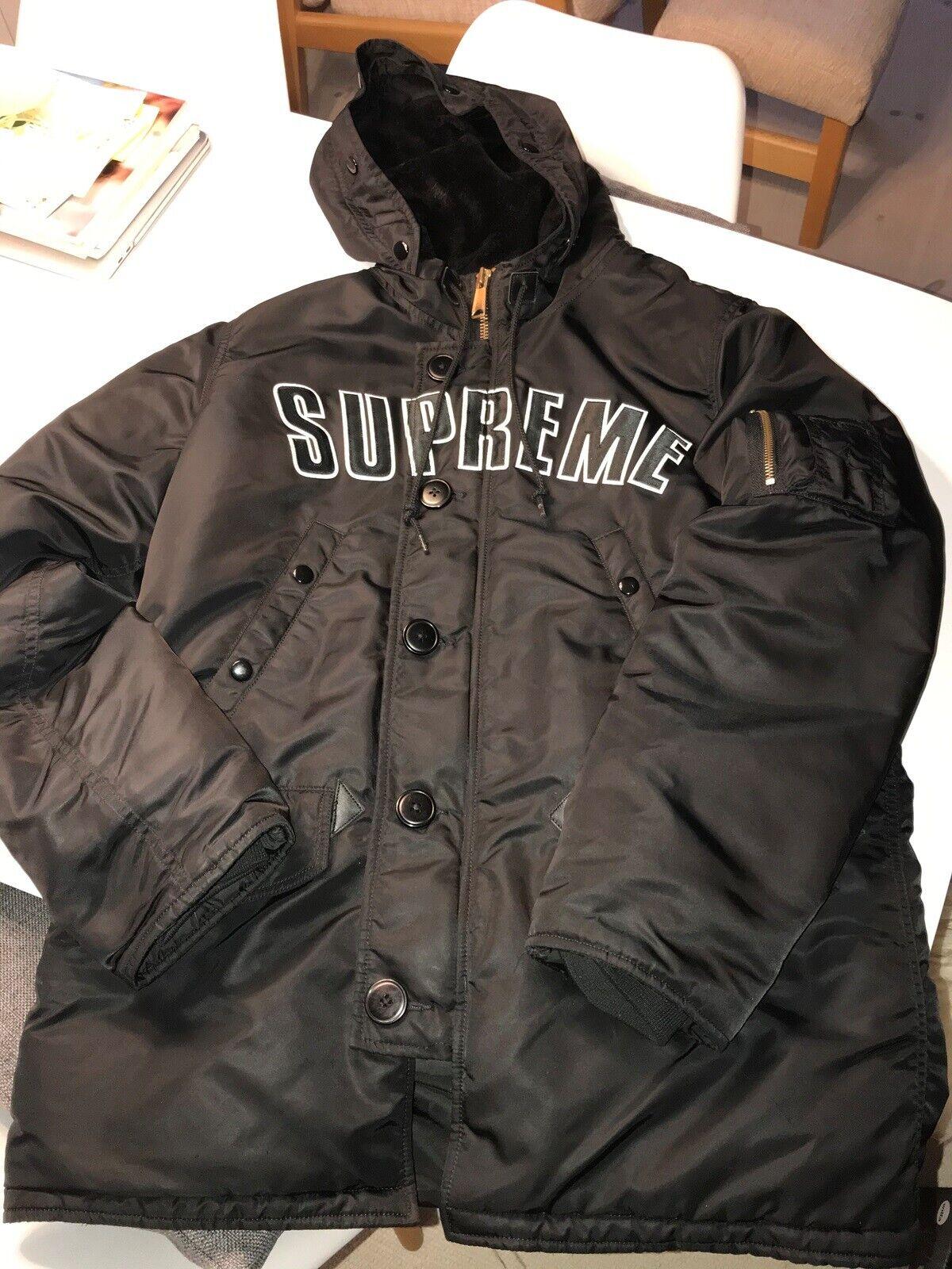 Parkacoat, str. M, SUPREME ARC LOGO jacket, Blå