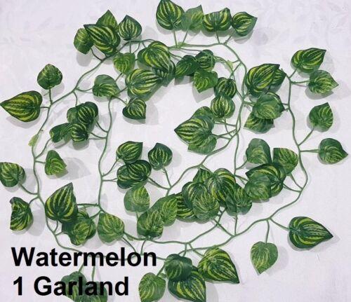 2m Artificial Trailing Ivy Garland Watermelon Garden Vine Leaf Foliage Flowers