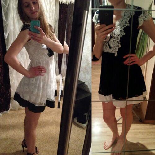 jupe décolleté transparente en robe dentelle XL dentelle Top robe mini cérémonie soirée de w1TfFEqx