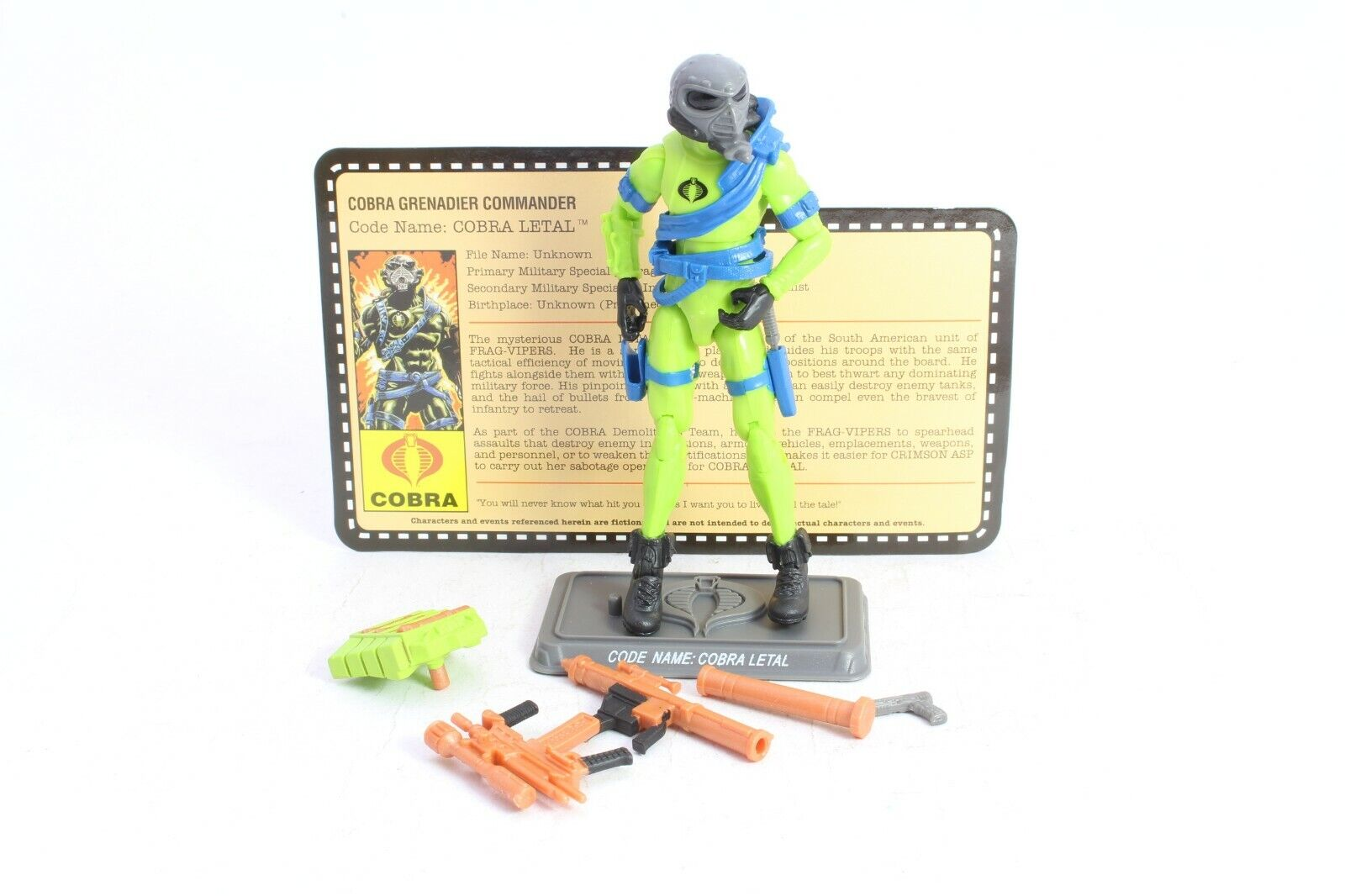 GI JOE COBRA LETAL 25th Anniversario Convenzione esclusivo Night Force