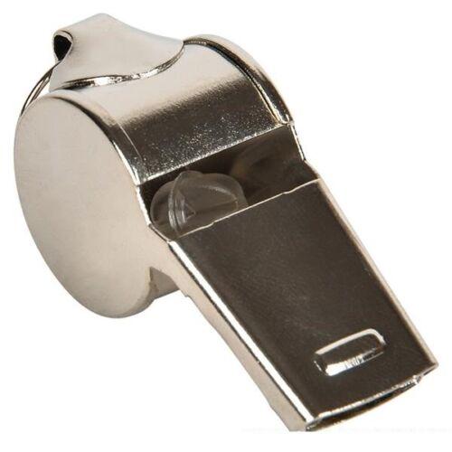 Metal Police Style Whistle - Loud, Aggressive Deep Sound Ear Piercing Gag Prank