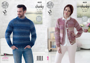 39845af917b Easy Knit Ladies Cardigan   Mens Sweater Chunky Knitting Pattern ...