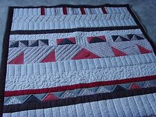 """Beautiful Handmade Small Size Patchwork Quilt - 65.0"""" x 52"""""""