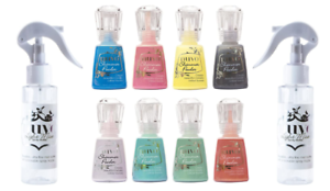 Tonic Studios Nuvo Shimmer Powder Block Multi-Colors Set Light Mist Spray bottle
