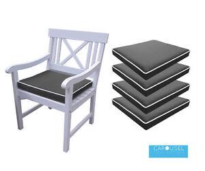 Memory Foam Garden Chair Cushion Seat, Memory Foam Chair Pads With Ties