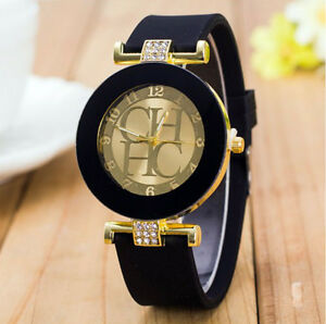 382cf8b4904a La imagen se está cargando Reloj-mujer-lujo-sport-quartz-correa-de-goma-