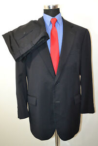 Brooks-Brothers-1818-45R-36x28-2PC-Full-Suit-Navy-Wool-USA