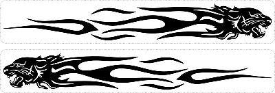 100% Wahr Set 2x Aufkleber Sticker Auto Motorrad Macbook Laptop Tribal Tiger Schwarz