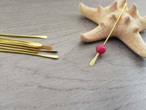 18g Latón Pines de cabeza de paletaHecho a Mano A Pedido10 piezas