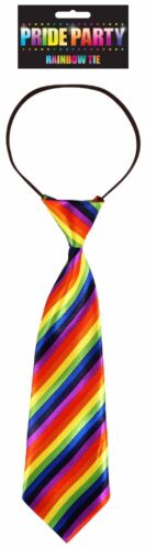 Homme Femme RAINBOW Bright Pride Carnaval Mardi Gras Cravate Costume Robe Fantaisie