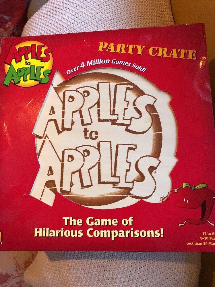 APPLES TO APPLES MATTEL  tavola gioco  PARTY CRATE 4-10 PLAYERS  benvenuto a scegliere