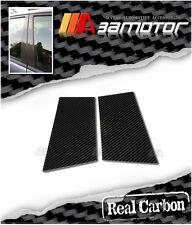Real Carbon Fiber Door Pillar Panel Decal Covers Set for 03-08 Nissan Z33 350Z